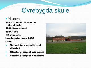 Øvrebygda skule