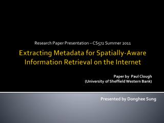 Extracting Metadata for Spatially-Aware Information Retrieval on the Internet