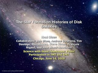 The Star Formation Histories of Disk Galaxies
