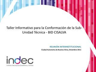 T aller  I nformativo para la  C onformación de la Sub -U nidad Técnica - BID CISALVA
