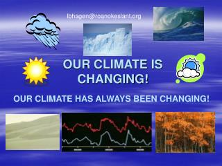 OUR CLIMATE IS                    CHANGING!