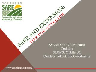 SARE and Extension: