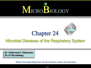 Microbial Diseases of the Respiratory System