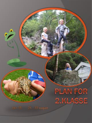Plan for 2.klasse