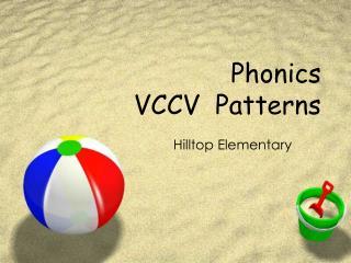 Phonics VCCV  Patterns
