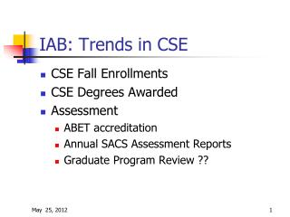 IAB: Trends in CSE