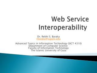 Web Service Interoperability