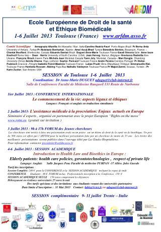 Ecole Européenne de Droit de la santé  et Ethique Biomédicale