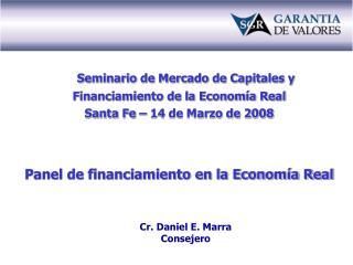 Seminario de Mercado de Capitales y Financiamiento de la Economía Real