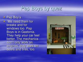 Pep Boys by quez