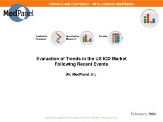 Evaluation of Trends in the US ICD Market  Following Recent Events  By: MedPanel, Inc.
