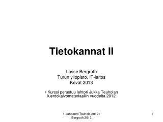 Tietokannat II