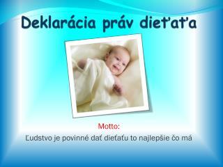 Deklarácia práv dieťaťa
