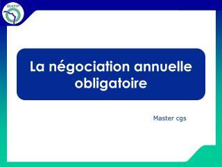 La négociation annuelle obligatoire