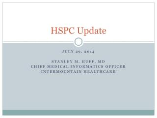 HSPC  Update