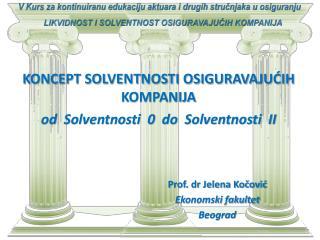 Prof. dr Jelena Kočović Ekonomski fakultet  Beograd