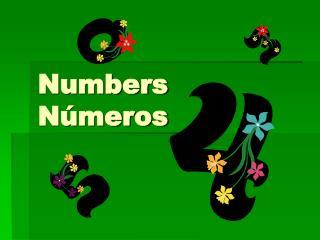 Numbers Números