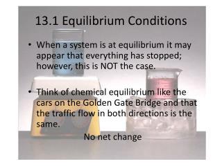 13.1 Equilibrium Conditions