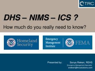 DHS   NIMS   ICS