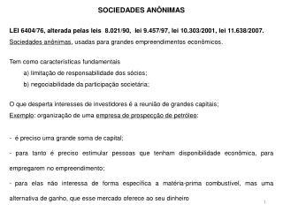 SOCIEDADES AN�NIMAS