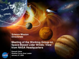 Meeting of the Working Group on Space-Based Lidar Winds: View from NASA Headquarters