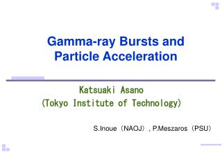 Gamma-ray Bursts and Particle Acceleration