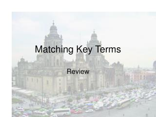 Matching Key Terms