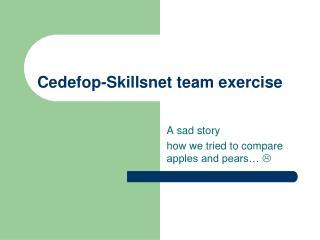 Cedefop-Skillsnet team exercise