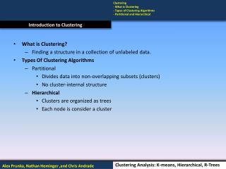 Introduction to Clustering