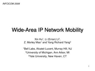Wide-Area IP Network Mobility