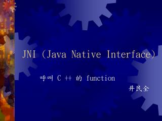 JNI (Java Native Interface)