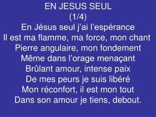EN JESUS SEUL  (1/4)