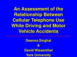 Deanna Singhal & David Wiesenthal York University