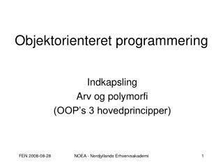 Objektorienteret programmering