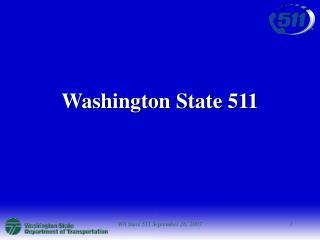 Washington State 511