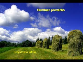 Przysłowia letnie.