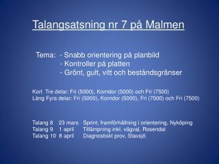 Talang  8    23  mars   Sprint, framförhållning i  orientering, Nyköping
