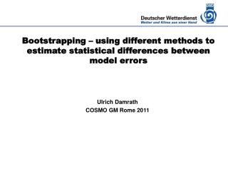 Bootstrapping – using different methods to estimate statistical differences between model errors
