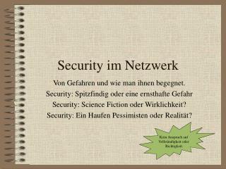 Security im Netzwerk