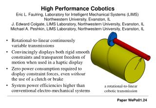 High Performance Cobotics