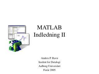 MATLAB  Indledning II