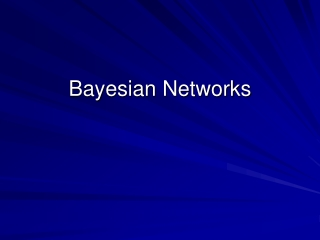 Bayesian Networks - an introduction