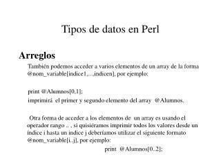 Tipos de datos en Perl