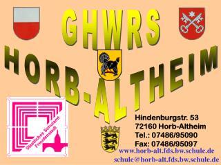 GHWRS HORB-ALTHEIM