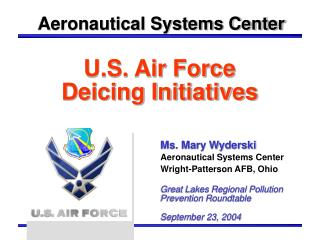 U.S. Air Force  Deicing Initiatives
