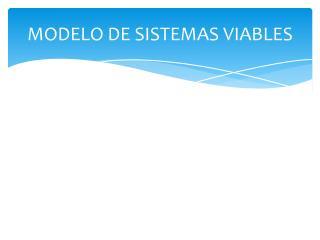 MODELO DE SISTEMAS VIABLES