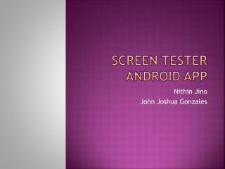 Screen Tester Android App