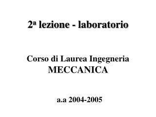 2 a  lezione - laboratorio