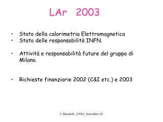 LAr   2003