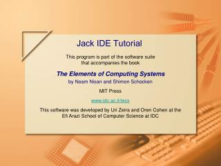 Jack IDE Tutorial